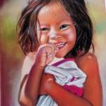 sourire malgré tout - pastel 24 X 34 cm   - vendu