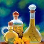 huiles essentielles  - pastel  35 X 25 cm