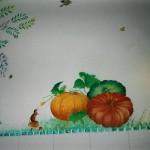 cuisine à Paris; détail  :citrouilles et petits animaux