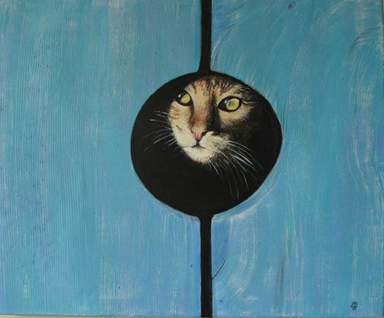 Peinture Dans L Oeil trompe l'oeil à l'oeil de chat « peintures