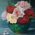 bouquet de roses  -  (vendu)