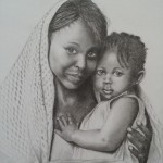 tendresse maternelle  (crayon sur papier)