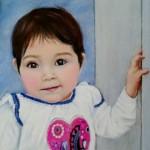 portrait de Belline  aux pastels secs   (24X34cm)  -vendu