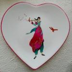 assiette coeur a la flute  -(vendue)