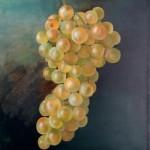 grappe de raisin blanc   huile sur toile  32 cm X 40 cm
