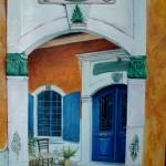 jardin secret dans un patio grec
