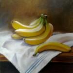 les bananes   pastel sur papier
