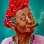 la joyeuse cubaine   pastels sur pastel cards   en A4