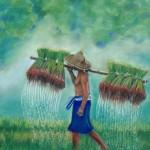 les rizières indonésiennes    Pastel   (vendu)
