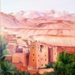 le Ksar Ait Benhaddou au Maroc - huile (45 X 54 )